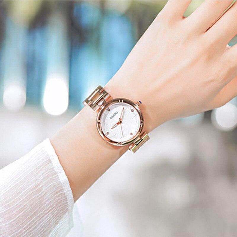 5 Colors Women Watches Ladies Crystal Round Wristwatch Modern Rose Gold Watches Luxury Diamond Female Quartz Watch reloj mujer enlarge