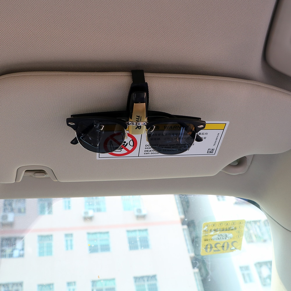 Carro óculos clipe abs carro veículo óculos de sol viseira óculos titular cartão bilhete caneta clipe automotivo acessórios