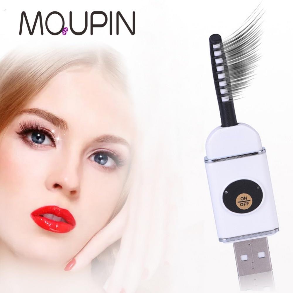 Belleza eléctrica rizador de pestañas en caliente USB carga maquillaje cosmético perfecto ojos grandes removedor Clip cejas pestañas