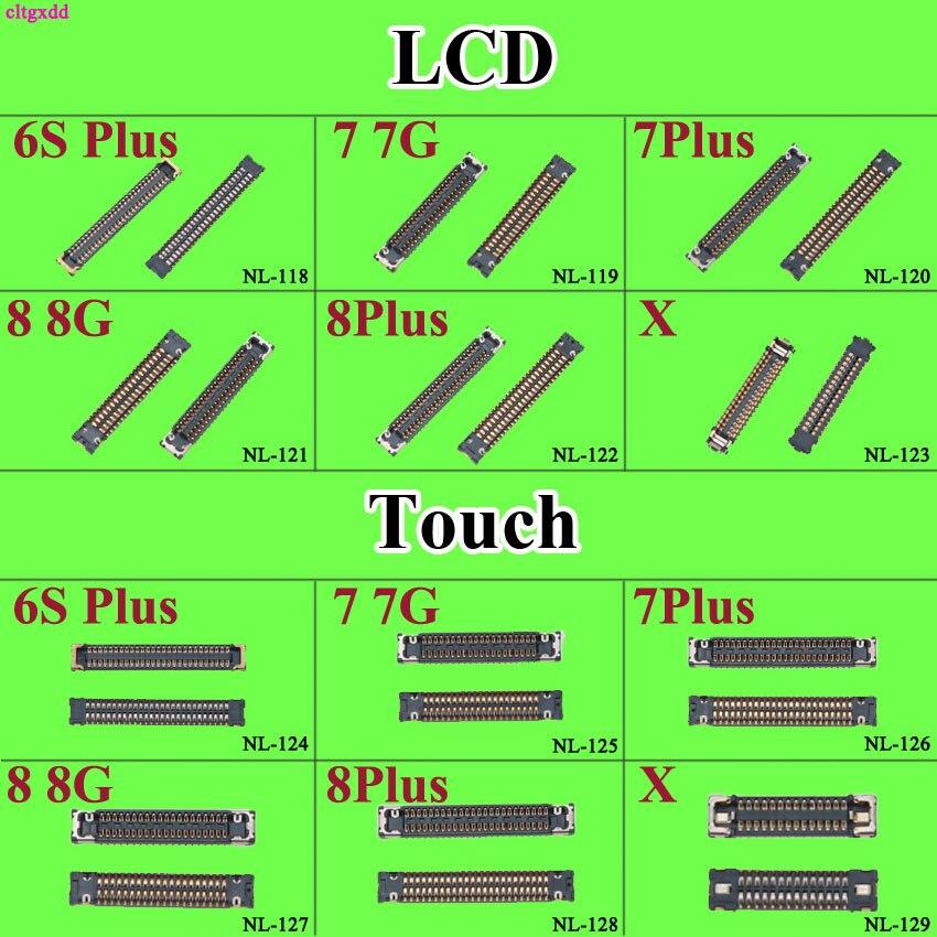 Cltgxdd 1X pantalla LCD pantalla táctil Cable flexible conector de enchufe FPC en placa madre para iPhone 6S 6SP 7 8 plus X