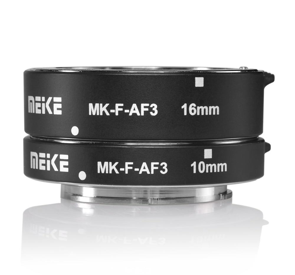 Металлический макроудлинитель Meike для FUJIFILM XPro2/XT1/XA2/XE2/XE2s/X70/XE1/X30/X70/XM1/XA1/XPro1 с автофокусом, 10 мм, 16 мм