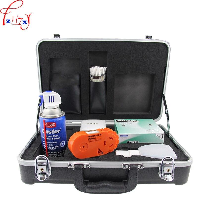 Nuevo kit de limpieza de fibra óptica KF-710C fibra óptica portátil construcción y limpieza diaria mantenimiento limpieza kit 1 ud.