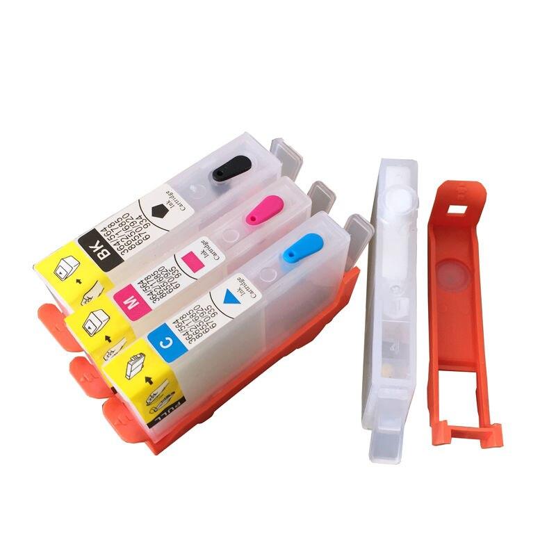 Ink WAY 10 juegos para Cartucho de tinta recargable HP905 903 904 para HP OfficeJet 6950 6956 OfficeJet Pro 6960 6970 para chip HP904 W/O