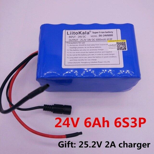LiitoKala-batería Recargable de 25,2 mAh Para Coche, dispositivo de carga de 24...