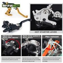 "BIKINGBOY For Suzuki RM 80 85 125 RMZ 250 RM-Z RMX 450 DRZ DR-Z 400 E S 22mm 7/8"" Clutch Lever Perch Hot Start Dirt Bike ATV UTV"