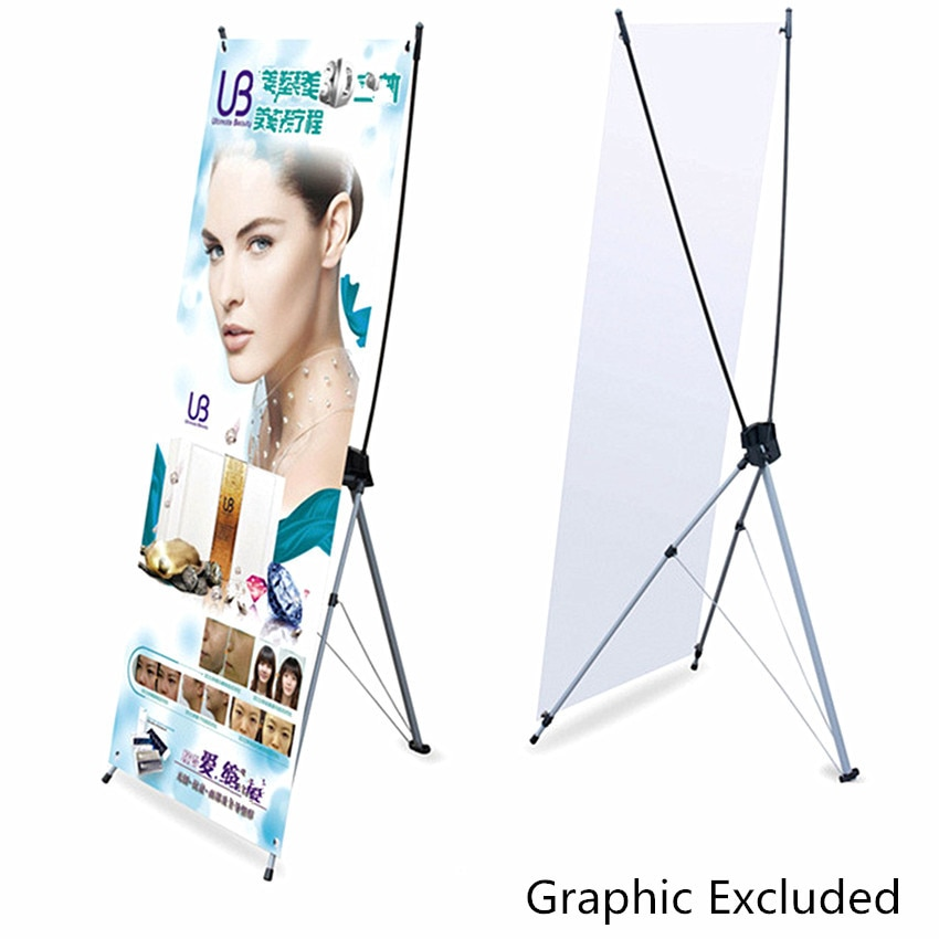 Economy Type Plastic X Banner Advertising Display Poster Stands For Promotion Exhibition Trade Show Booth(No Printing) 10pcs