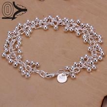 2016 New Arrival Silver Plated Bracelet,Wedding Jewelry Accessories,Fashion Silver Light Grape Ball Bracelets Bangle
