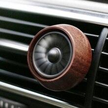 Mini Car Air Freshener Auto Air Outlet Vent Fragrance Freshener Wooden Shell Car Styling Perfume Air Fresh Fan Aroma Diffuser
