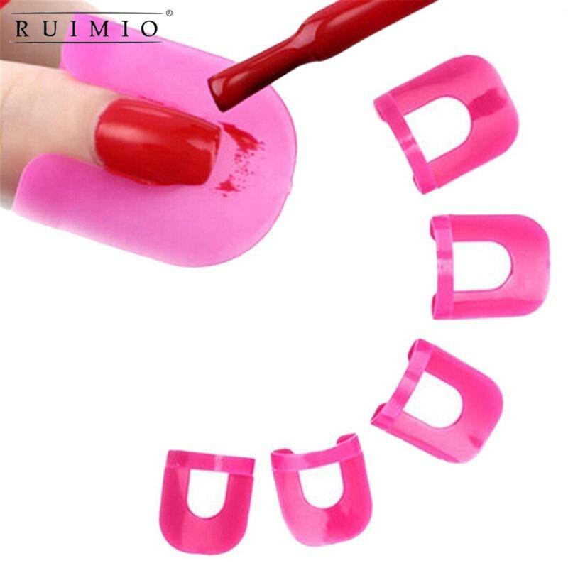 26 pcs/Set esmalte de uñas Anti desbordamiento de manicura escudo Protector píldora prueba de modelo de pegamento de esmalte de uñas de la prevención