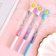 1pcs Creative Quicksand Magic Wand Colorful Gel Pen Stationery Caneta Student Exam Spare Cute Pen Kawaii School Supplies