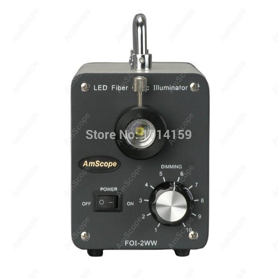Lilluminateur de Microscope-AmScope fournit lilluminateur à fibers optiques froid de 30W LED