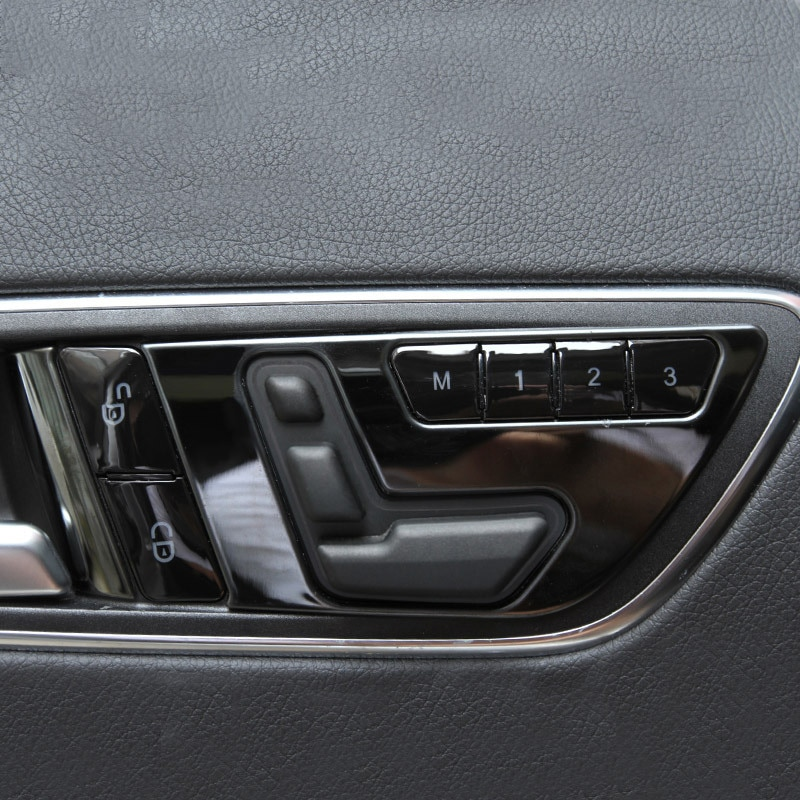 For Mercedes Benz GLA/CLA/GLK/GLE/CLS/GL/ML W166 A/B/E Class Door Memory Seat Lock Unlock Adjust Switch Button Decorative Cover