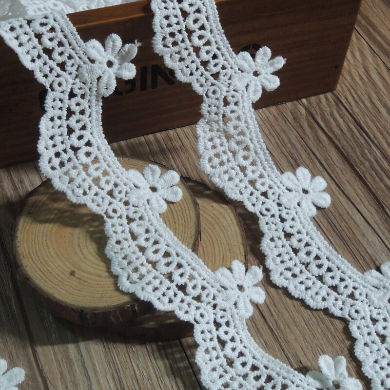 3Y algodón Soluble flor encaje bordado de tela Trim cinta costura de bricolaje hecha a mano artesanía para la decoración del sombrero del traje