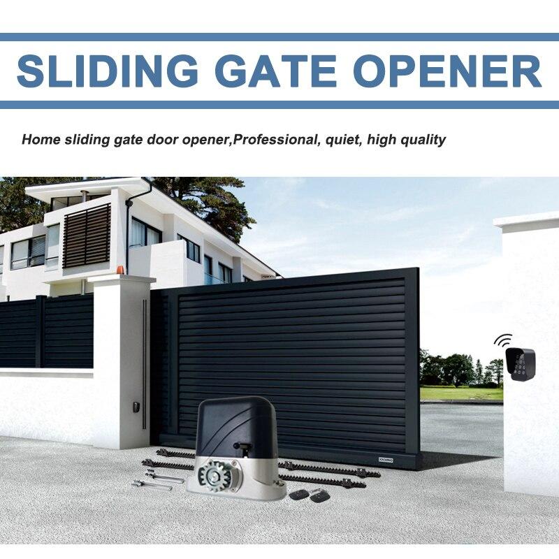 Motor de compuerta corrediza eléctrica de alta resistencia/abridor de puerta automático motor mover Puerta de ruedas con bastidores de nylon 4m Auto kgs opcional