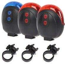 5 LED 2 Laser vélo étanche feu arrière sécurité cyclisme lumière Laser avertissement lumière LED rouge feu arrière VTT