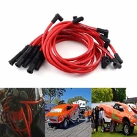 8pcsset 10 5 mm high performance spark plug wire set for hei sbc bbc 350 383 454 electronic car styling