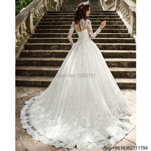 Vestido De Noiva Bridal Dress Sexy Vintage Rustic Long Sleeve Wedding Gown Women Ball Gown Lace China Wedding Dresses 2020