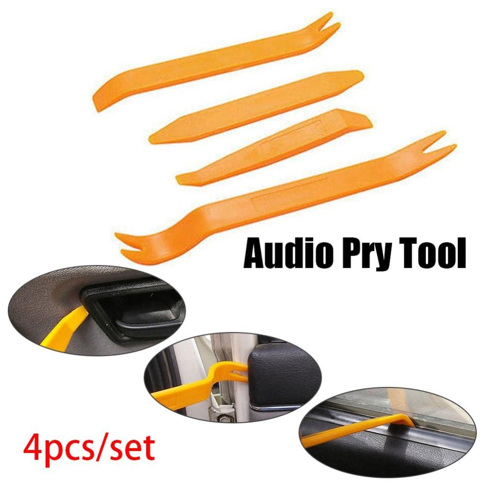 4pcs/set Dash Audio Professional Vehicle Plastic Pry Tool Trim Removal Car Radio Door Clip Panel Refit Repairing Kit#280764