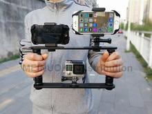 Stabilisateur vidéo de poche poignée de cardan plate-forme steeryam pour Gopro Hero5 4 3 + 3 Session SJCAM XIAO Yi caméra, Camcoders, Smartphone