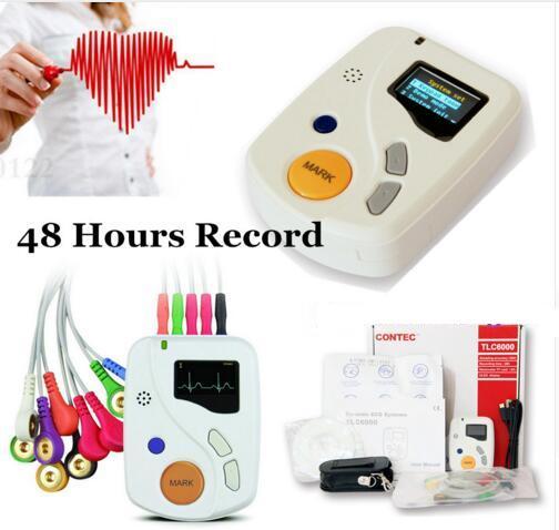 Sistema Dinámico CE 2019, Holter de registro de 24/48 horas, USB, bolsa, CONTEC de disco
