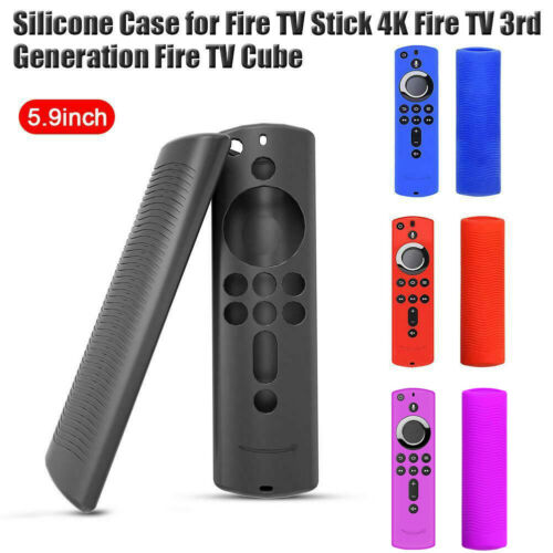 Funda protectora de silicona antideslizante para Fire TV Stick 4K TV Stick remoto 2D05