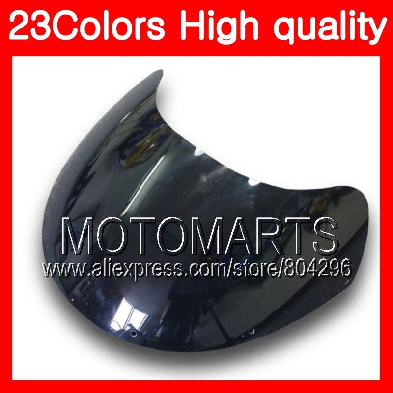 23 colores parabrisas para SUZUKI RGV-250 VJ23 RGV 250 97 98 RG V250 R GV250 RGV250 1997 1998 Cromo Negro claro humo parabrisas