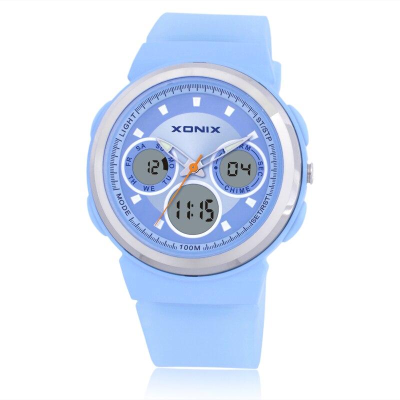 Reloj Digital de cuarzo para mujer, de moda deportiva, supergelatina, relojes deportivos para estudiantes, nueva marca LED, relojes de pulsera militares resistentes al agua DI