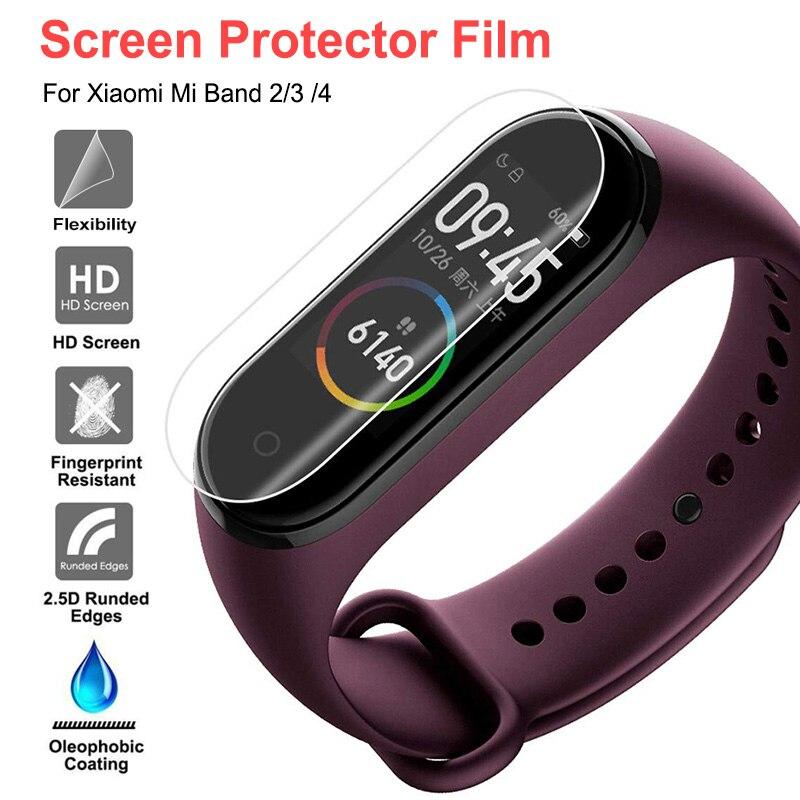 Película protectora de pantalla para Xiaomi Mi Band 4, funda completa de TPU, funda protectora para pulsera inteligente Xiaomi Mi Band 2 3, No cristal templado