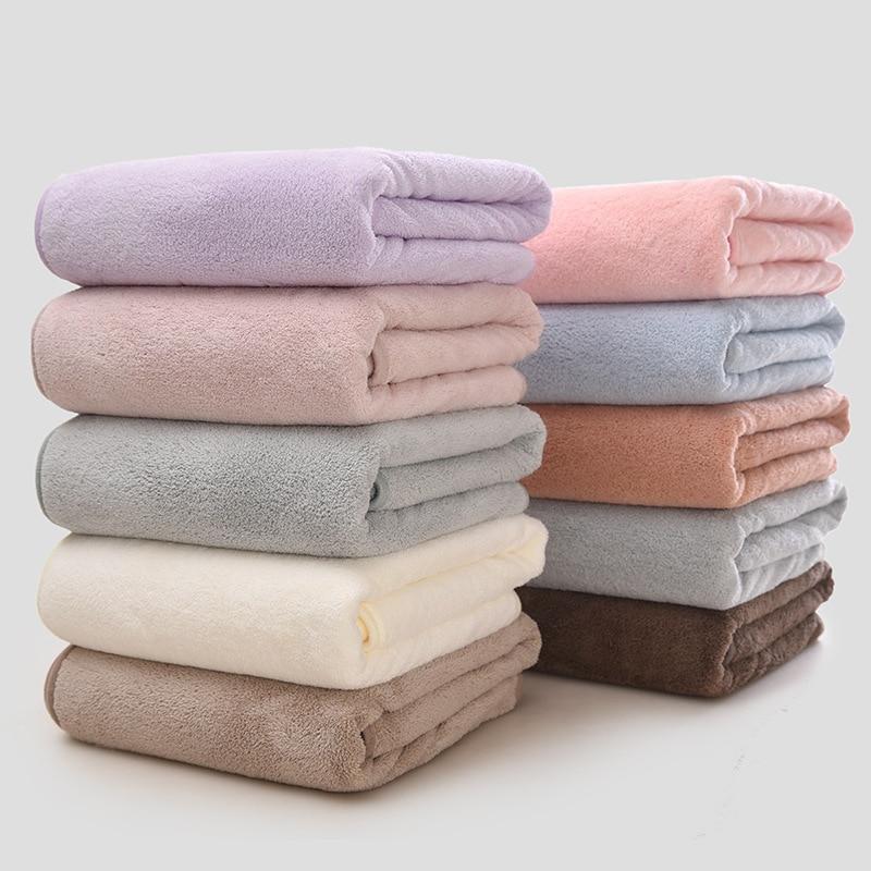 Toalla de baño de lana Coral absorbente de secado rápido para adultos