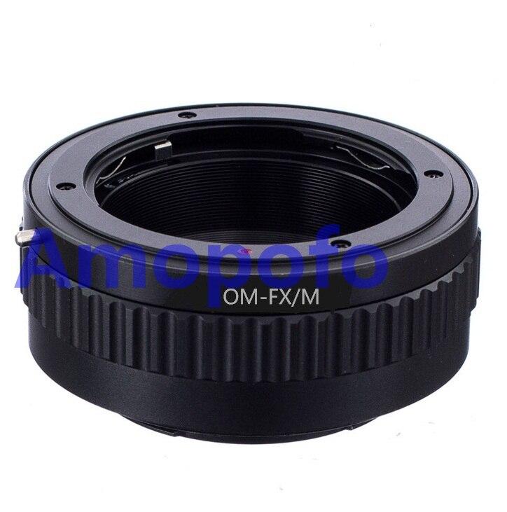 AMOPOFO para Olympus OM lente Fujifilm X-Pro1 Fuji montaje Macro helicoidal adaptador E2 T1 OM-FX/M