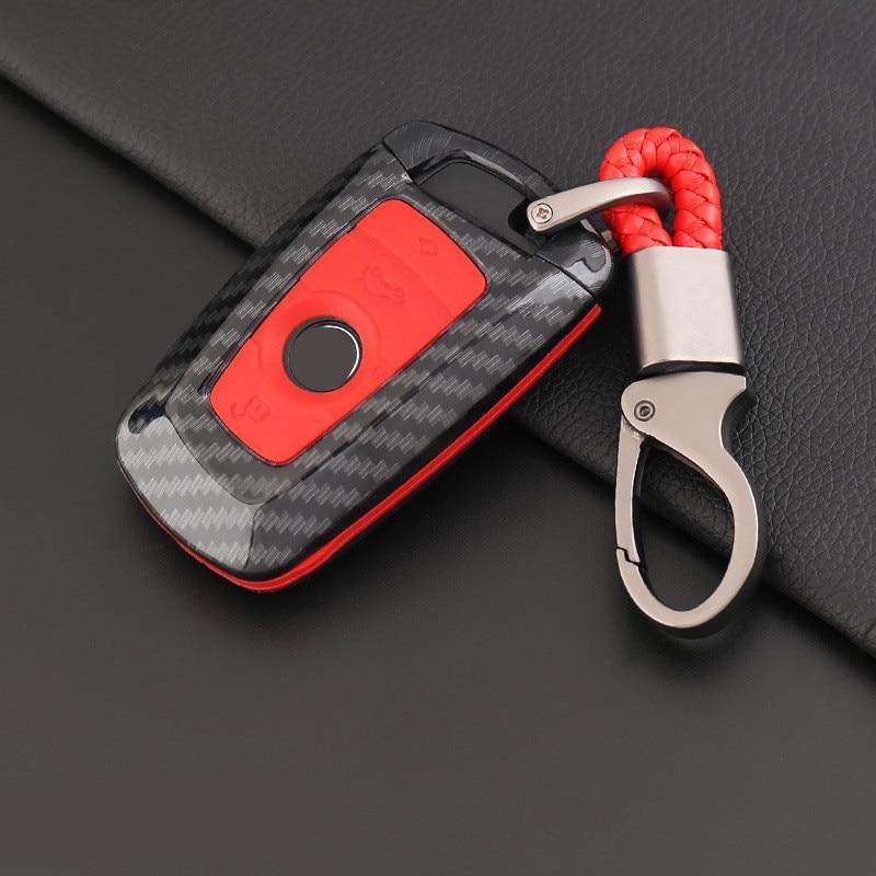Coche-estilo de fibra de carbono clave de la cubierta del caso de Shell para BMW E30 E36 E46 F10 F11 F31 F48 G30 M1 M2 X1 X3 X4 4 botones Accesorios