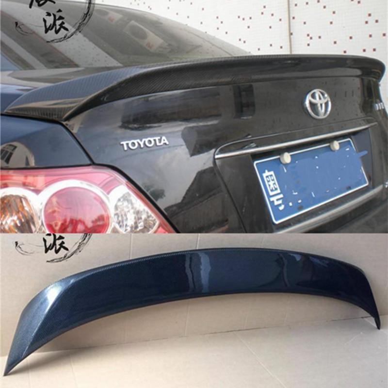 Uso para toyota reiz/mark x lip spoiler 2006-2009 lip spoiler con luz de alta calidad Material de fibra de carbono parte trasera del coche
