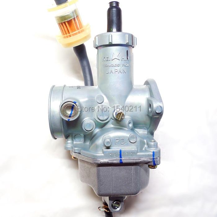 Acelerador de Keihin manualmente PZ30 carburador de motocicleta 30mm Carb 200 2250cc ATV Karting buggy de un cilindro