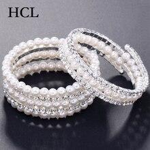 Chic remontage Bracelet femmes multicouche perle cristal Bracelets Bracelet de mariage Bijoux accessoires femme fête mariée Bijoux cadeau