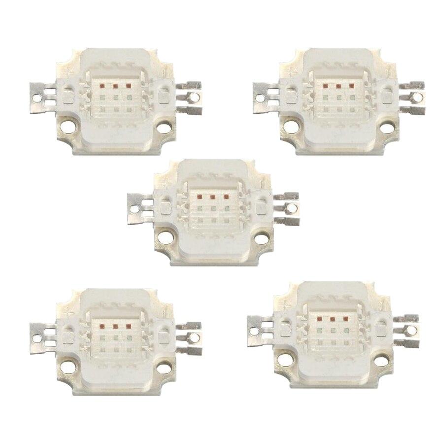 5 x 10W High Power LED RGB Chip Bulb Light Lamp Spotlight DIY