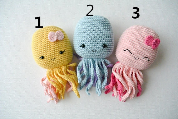 Crochê brinquedos amigurumi crochê polvo