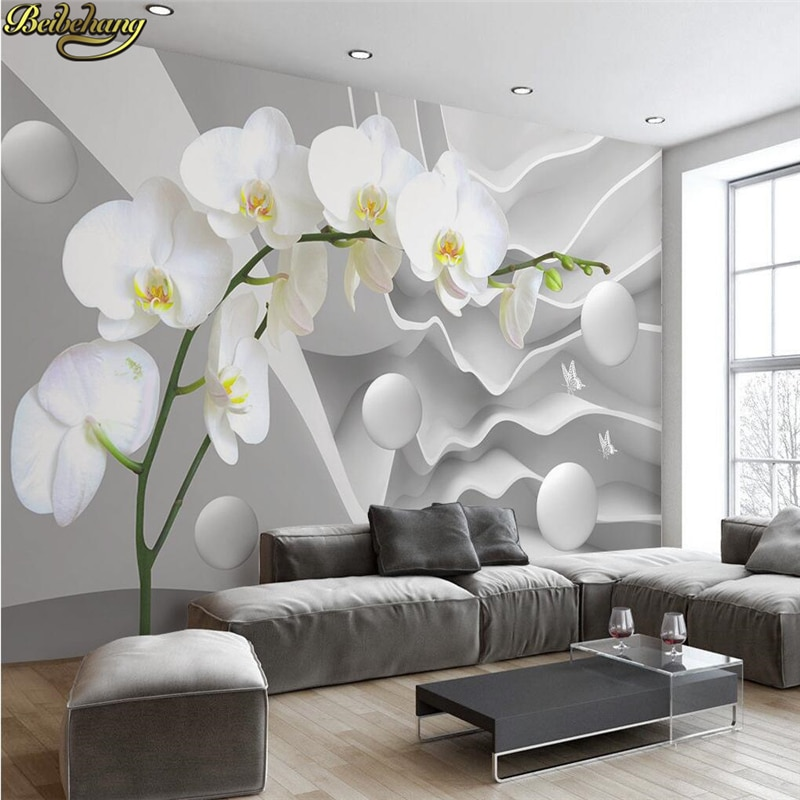 beibehang Papel De Parede 3D White geometric Modern Minimalist Photo Wallpaper for Walls Mural Abstract Art Wall Paper Bedroom beibehang papel de parede 3d warm bedroom non woven wall paper three dimensional rural wallpaper for walls 3 d wall paper