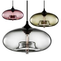 Modern multicolor glass pendant light cute ball shape lamp kitchen island lighting LED Edison line pendant lamp