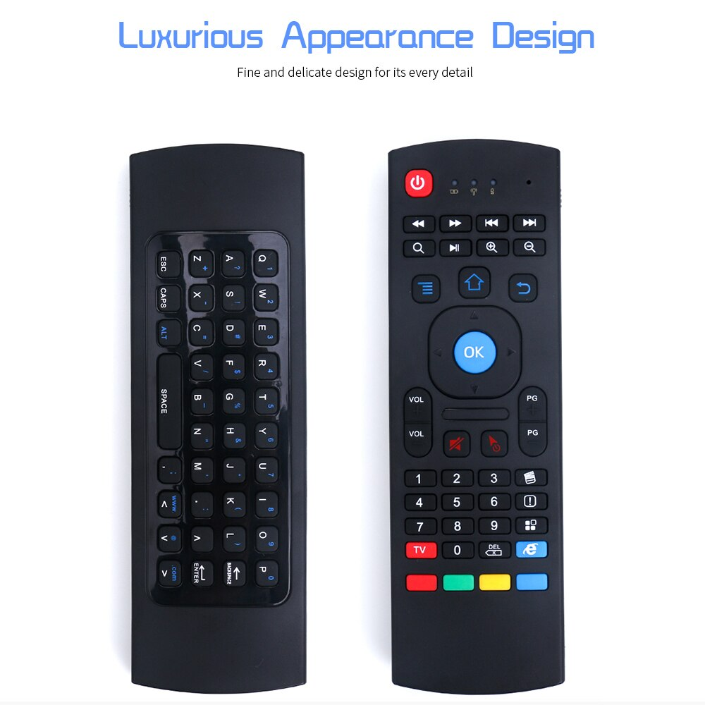 Ratón volador inalámbrico USB Air Mouse2.4G Control remoto Nfrared ajuste multifuncional Mini teclado para Smart TV para Samsung LG