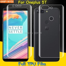 Front / Back Full Coverage Clear Soft TPU Film Screen Protector For OnePlus 5T 6.01