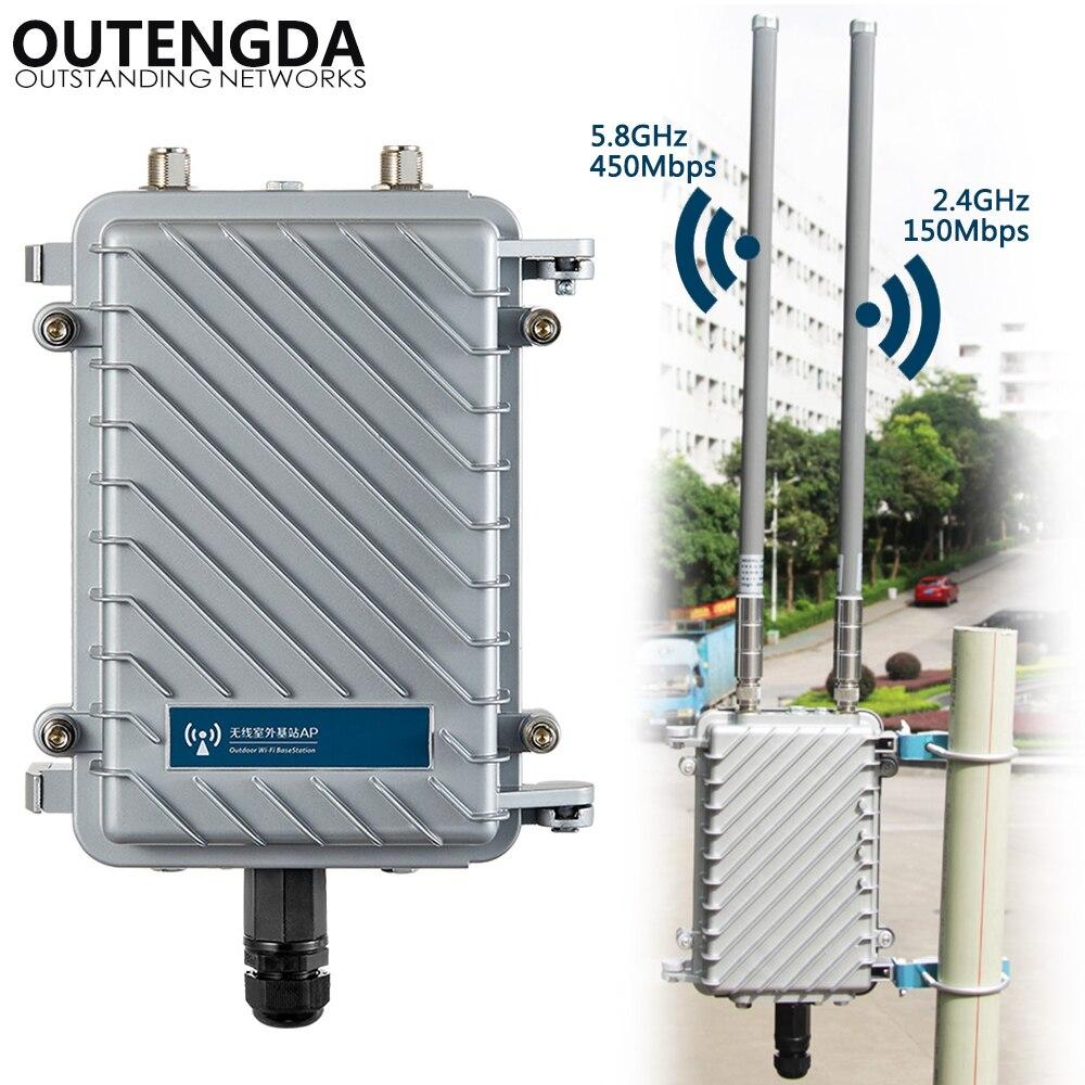 600Mbps banda Dual 2,4G y 5,8G exterior CPE AP Router WiFi señal Hotspot amplificador repetidor de Largo alcance inalámbrico PoE Punto de Acceso