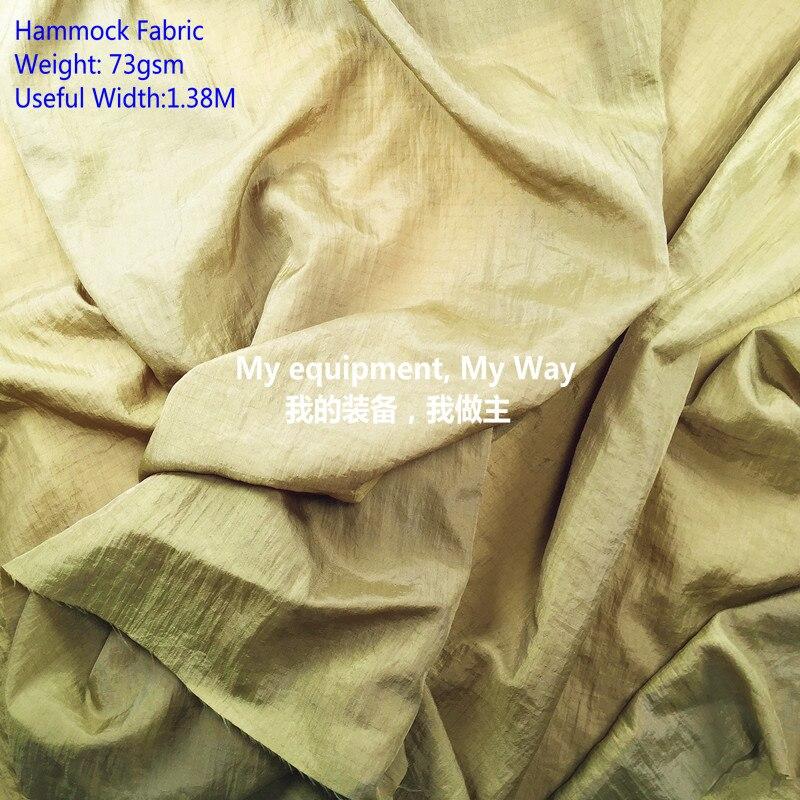 70D Nylon Ripstop 0,5*0,5 tela para Hamaca, respirable, arruga, tratamiento WR