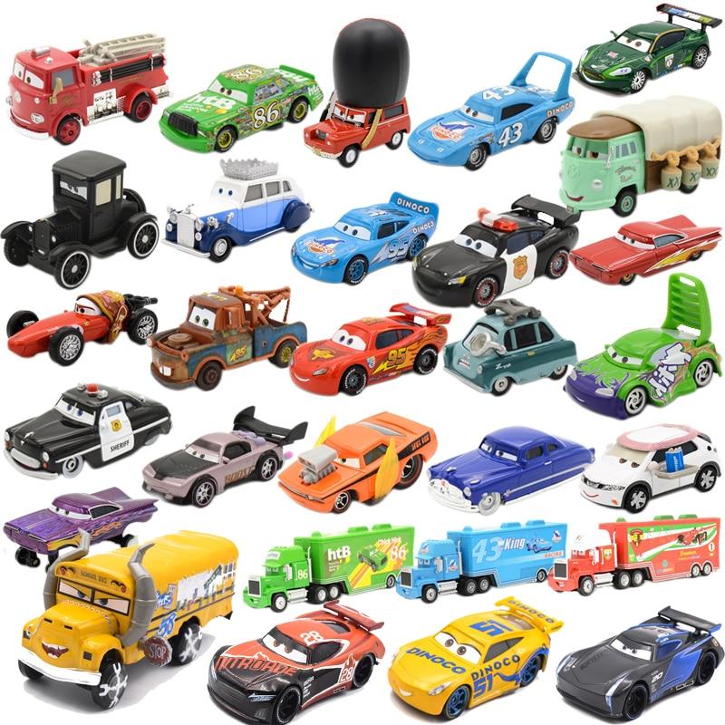 Disney Pixar Autos 3 Spielzeug Gießt Druck Fahrzeuge Verpassen Fritter Blitz McQueen Jackson Storm Cruz Ramirez Metall Auto Modell Kind Spielzeug geschenk