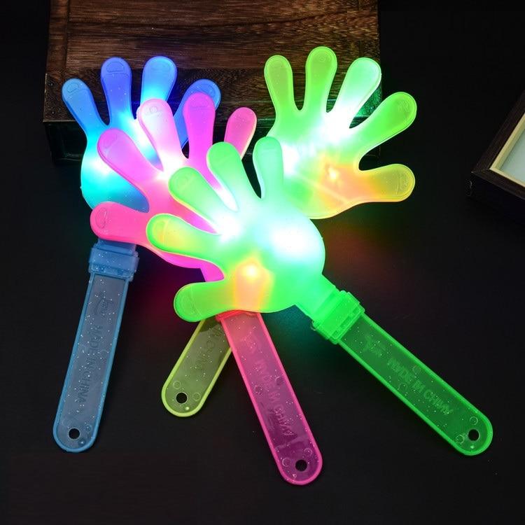 Accessoires de concert luminescents 28cm   Accessoires de concert flash en plastique, claqueuse à main, fournitures de fête, livraison gratuite