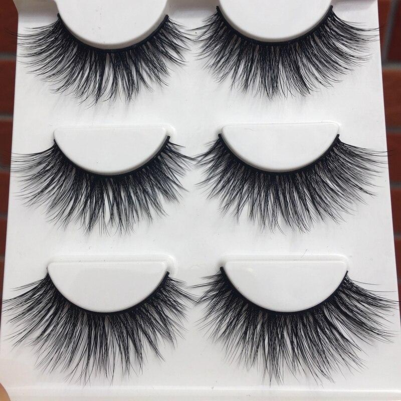 D-15 Winged Soft Cotton 3D False Eyelashes Stitch Cross Messy Natural Long Eye Lashes Fashion Makeup False Eyelashes