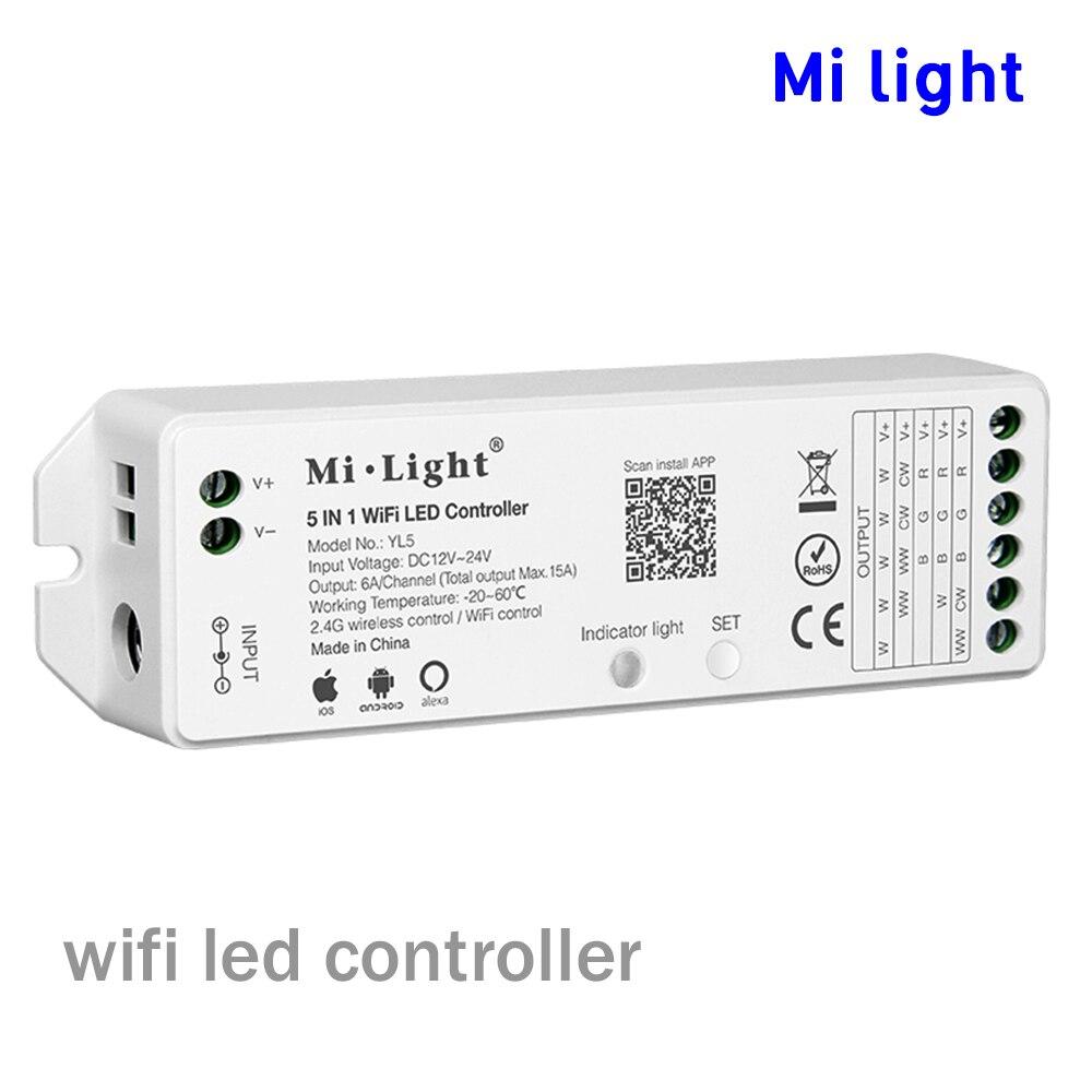 BSOD Levou Controlador Milight YL5 Controlador Sem Fio wi-fi 2.4 ghz Compatível Alexa Voz Controle Smartphone app controle Tira Conduzida