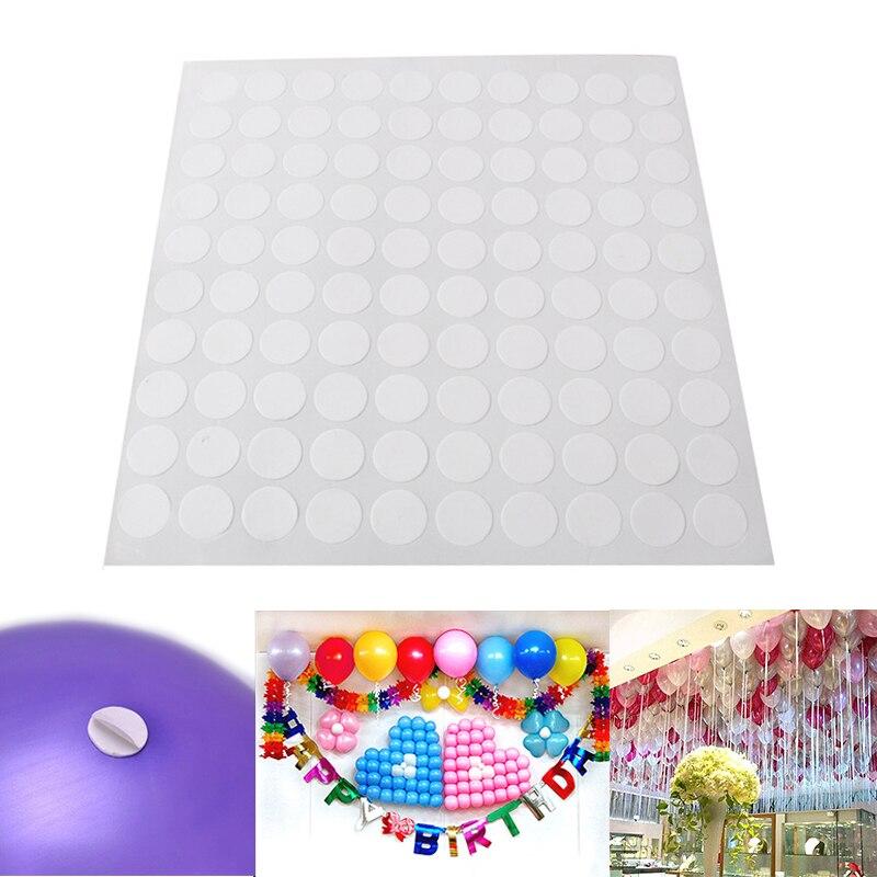 1 hoja súper adhesivo de doble cara, punto de pegamento, globo, decoración de boda, globos inflables, juguetes en la pared