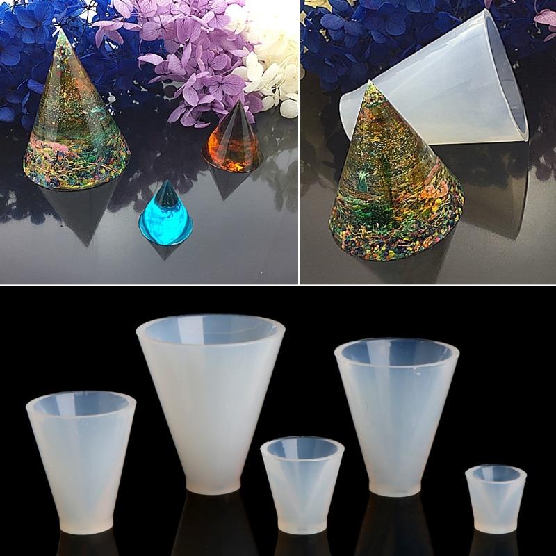 Triangular Pyramid Jewelry Making Tools Mold Pendant Silicone Resin Craft DIY