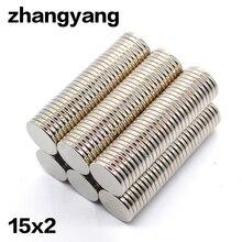10/30/60/110Pcs 15x2 Neodymium Magnet 15mm x 2mm N35 NdFeB Round Super Powerful Strong Permanent Magnetic imanes Disc 15x2