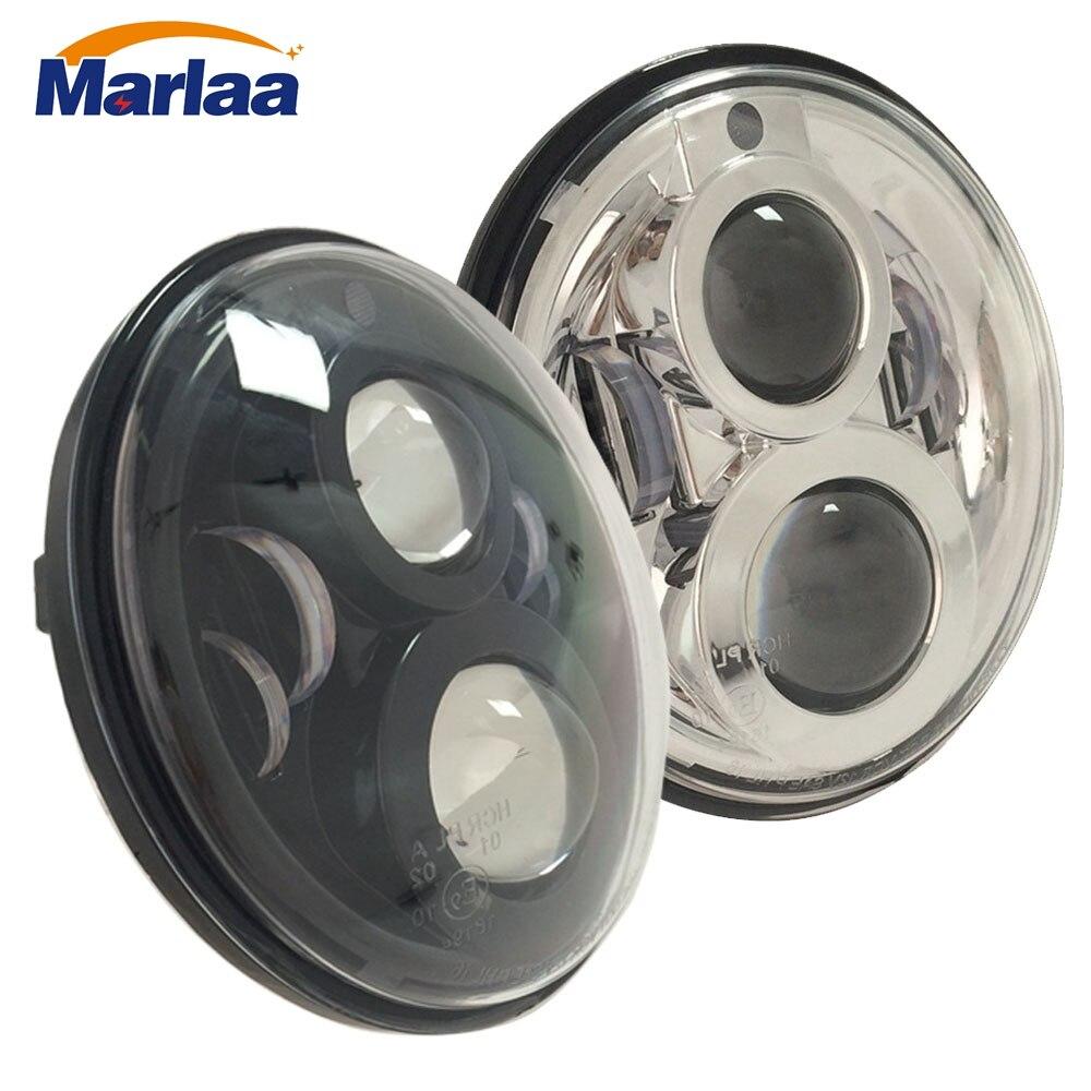 "Marlaa para Jeep Wrangler Land Rover Defender 7 ""LED H4 faro lámparas faro para Lada 4x4 urbano niva Suzuki Samurai"